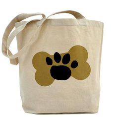 Dog Lover Paw Print Tote Bag