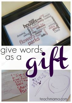 playing with words --> the gift of words is a super way of telling a teacher how much students appreciate them!
