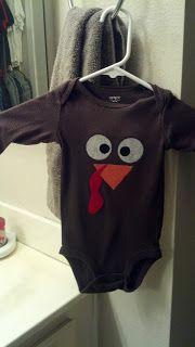 DIY Thanksgiving Baby Onesie