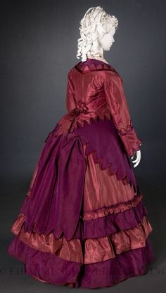 Day dress, Silk, c. 1872, Gift of Steven Porterfield, Collection of the FIDM Museum