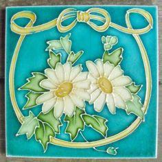 Art Nouveau Majolica Tile c. 1900