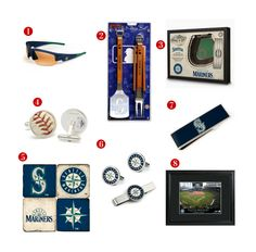 8 Great Father's Day Gift ideas for the avid Seattle Mariners Fan! See all of our Mariners gifts at http://www.topnotchgiftshop.com/seattle-mariners.html