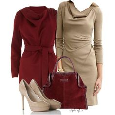 """""""Tan Dress"""" by styleofe on Polyvore"""