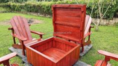 pallets patio table with storage 2