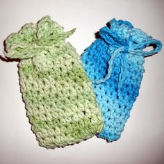 Soap bag ~ free crochet pattern! Spa set.