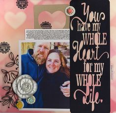 Has My Heart - Scrapbook.com. Made with Scrapbook.com's Kit Club kit for January - Fresh New Year.