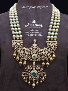Jewellery Designs - Page 5 of 1542 - Latest Indian Jewellery Designs 2019 ~ 22 Carat Gold Jewellery one gram gold Indian Wedding Jewelry, Indian Jewelry, Bridal Jewelry, Gold Jewelry, Diamond Jewelry, Diamond Jewellery Indian, Indian Diamond Necklace, Indian Bridal, Engagement Jewellery