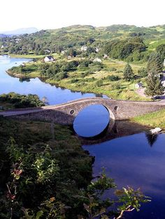 the Clachan Bridge, linking the west of Scotland with the island of Seil, is called 'The Bridge over the Atlantic'.