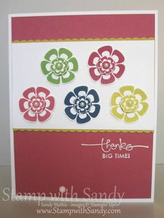 Stamp With Sandy: Betsy's Blossoms In Color