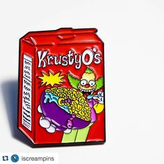 Go grab your Krusty-O's pin before it's too late! Krusty The Clown, Cool Pins, Pinterest Pin, Pin And Patches, Hat Pins, Pin Badges, Lapel Pins, Pin Collection, Printed