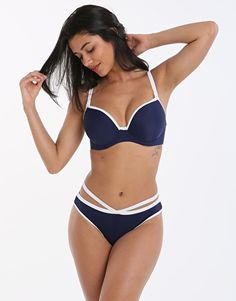d030782a51549 Freya In The Navy Deco UW Moulded Bikini Top - Navy Simply Beach, Tankinis,