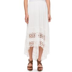 Skye's The Limit Lace Inset Hi Lo Skirt