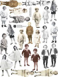 Little Darlings Collage Sheet – Collage Fashion 2019 Vintage Labels, Vintage Ephemera, Vintage Paper, Free Collage, Digital Collage, Vintage Pictures, Vintage Images, Altered Books, Altered Art