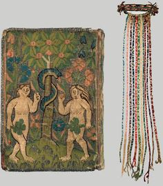 TAPESTRY-BOUND DEVOTIONAL BOOK WITH PLAITED BOOKMARK English, mid-17th century