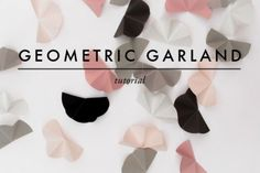 Modern And Easy DIY Geometric Garland For Your Wedding Decor | Weddingomania