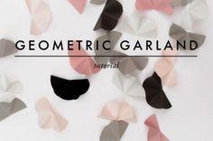 Modern And Easy DIY Geometric Garland For Your Wedding Decor | Weddingomania