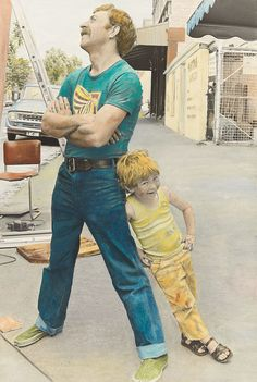 Exhibition: 'Colour my world: handcoloured Australian photography' at the National Gallery of Australia, Canberra http://artblart.com/2015/09/27/exhibition-colour-my-world-at-the-nga-canberra/ Photo: Ruth Maddison  (Australia born 1945) 'Jim and Gerry' 1983 From the series 'Some men'