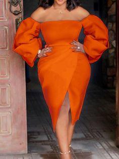 Elegant Dresses Classy, Classy Dress, Classy Outfits, Ankara Dress Designs, Ankara Gown Styles, Lace Gown Styles, Best Wedding Guest Dresses, Plain Dress, African Print Fashion