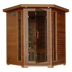Radiant Sauna 4 Person Cedar Corner Infrared Sauna - BSA1320