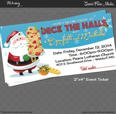 Spaghetti Dinner Event Ticket  with Santa / by SavoirFaireMedia