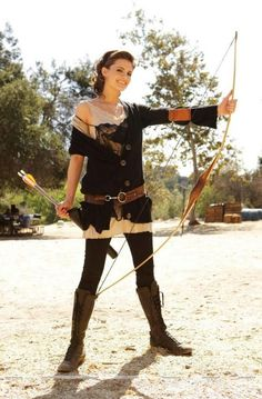 Stana Katic as the archer by Ari Michelson