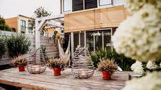 ogródek taras - Szukaj w Google Wreaths, Table Decorations, Google, Furniture, Home Decor, Decoration Home, Door Wreaths, Room Decor, Home Furnishings