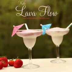 Lava Flow - Maria Mind Body Health (Piña colada with strawberries) Lava Flow Drink, Maria Mind Body Health, Starbucks, Low Carb Drinks, Starting Keto, Keto Drink, Diet Plan Menu, Keto Snacks, Pina Colada