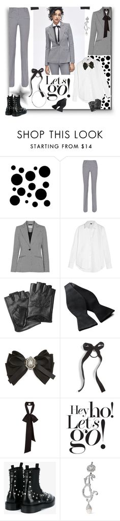 """""""The Boots & the Suit"""" by sylandrya ❤ liked on Polyvore featuring Retrò, Altuzarra, Joseph, Karl Lagerfeld, DAVID DONAHUE, Cara, Balenciaga, Jennifer Fisher, booties and suit"""