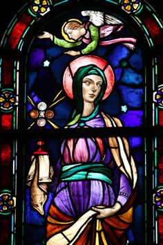 Bancel LaFarge designed this window of St. Clare in the Cathedral of St. Paul using the methods he learned from his father, famous East Coast artist John LaFarge. Photo by Dave Hrbacek / The Catholic Spirit