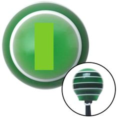 Green Officer 01 2n Lt and 1d Lt Green Stripe Shift Knob with M16 x 15 Insert