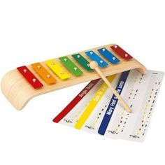 Plan toys Melody Xylophone by Plan toys. $26.59. Let your child make music to your ears with this colorful xylophone. Each key is color coded and marked with the letter of the note. Comes with cards to teach your child how to play different children`s tunes, such as `Mary Had a Little Lamb.`. Save 30%!