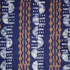 Batik Fabric Navy, Brown & White Navy And Brown, Craft, Fabrics, Textiles, Sewing, Home Decor, Tejidos, Dressmaking, Decoration Home