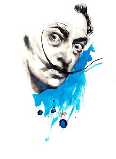 Salvadore Dali - parker pen, Blur Ink - illustration by Mitja Bokun, July 2012