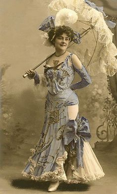 another woman with parasol - Edwardian, or Victorian?