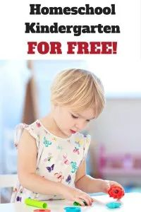You can homeschool kindergarten free! Check out these amazing resources to get you started today! Homeschooling | kindergarten | Free homeschool