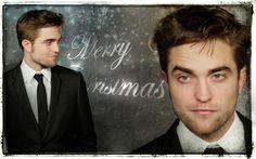 Robert Pattinson Christmas wallpaper