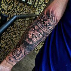 50 eye-catching lion tattoos that make you fancy ink - tattoo ideas - . - 50 eye-catching lion tattoos that make you fancy ink – tattoo ideas – # flashy - Hand Tattoos, Lion Forearm Tattoos, Lion Head Tattoos, Forarm Tattoos, Mens Lion Tattoo, Best Sleeve Tattoos, Tattoo Sleeve Designs, Tattoo Designs Men, Lion Tattoos For Men