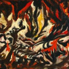 The Flame – Jackson Pollock Completion Date: 1938 Style: Abstract Expressionism Period: Early works Genre: figurative painting Technique: oil Material: canvas Dimensions: x cm Gallery: Museum of Modern Art, New York, USA Tags: fires-and-floods Jackson Pollock, Tachisme, Action Painting, Drip Painting, Abstract Expressionism, Abstract Art, Pollock Paintings, Oil Paintings, Pollock Artist