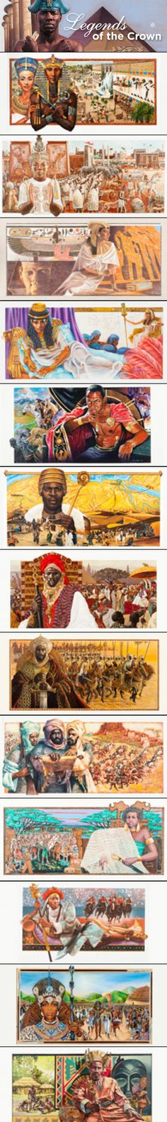 Twenty-three artists were commissioned to create works for this collection over a 25-year span. Each painting depicts an African leader and celebrates his or her impact on rich AFRICAN history.