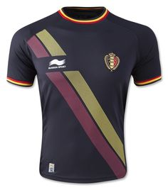 This is the jersey Eden Hazard, Romelu Lukaku, Kevin de Bruyne and Vincent Kompany will wear in Belgium in 2014. Features Belgium team badge, sublimated design on front, embossed design on front and Burrda logo. Official Belgium team badge. Polyester.
