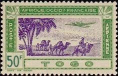 1942: Plane and caravan (טוגו) (Airmail) Mi:TG 184,Yt:TG PA16