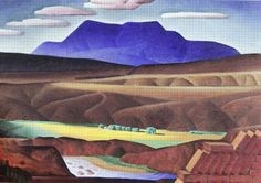 Alexandre Hogue, Irrigation-Taos, 1931, Oil on Canvas 17 x 24 inches, The Art Museum of South Texas