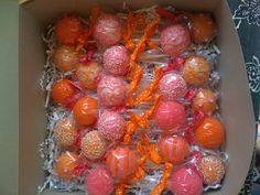 Orange and pink cake pops