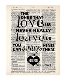 Harry Potter Poster Print The Ones That Love Us Never by Motif4U