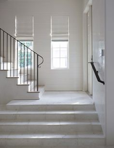 simple staircase with handrail and windows for light (just needs some low lighting for night time...)