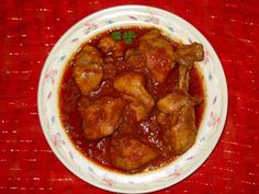 Chicken in Spicy Red Sauce - African
