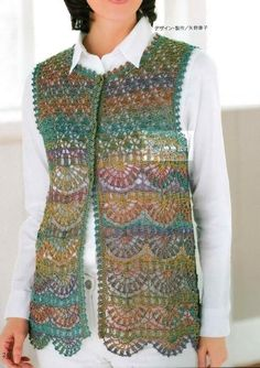 A Crochet Vest: Accentuating Your Ordinary Outfits With crochet sweaters: crochet vest pattern - classy dyxkeoi Crochet Waistcoat, Crochet Jacket, Knit Vest, Crochet Cardigan, Crochet Shawl, Knit Crochet, Free Crochet, Crochet Sweaters, Crochet Baby