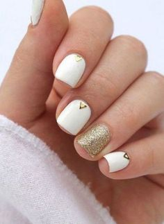french nails ideas Tips Gold Nails, White Nails, Creative Nail Designs, Nail Art Designs, French Nails, Hair And Nails, My Nails, Friendly Nails, Beste Tattoo