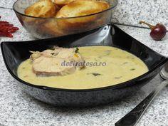 Ciorbă de peşte cu smântână Supe, Saveur, Seafood, Cheese, Fish, Healthy, Ethnic Recipes, Drink, Romania