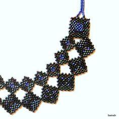 Peyote squares necklace